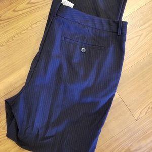 Navy pin stripes slacks
